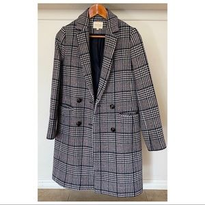 Sezane Houndstooth Coat